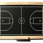 Drawing of a basketball court