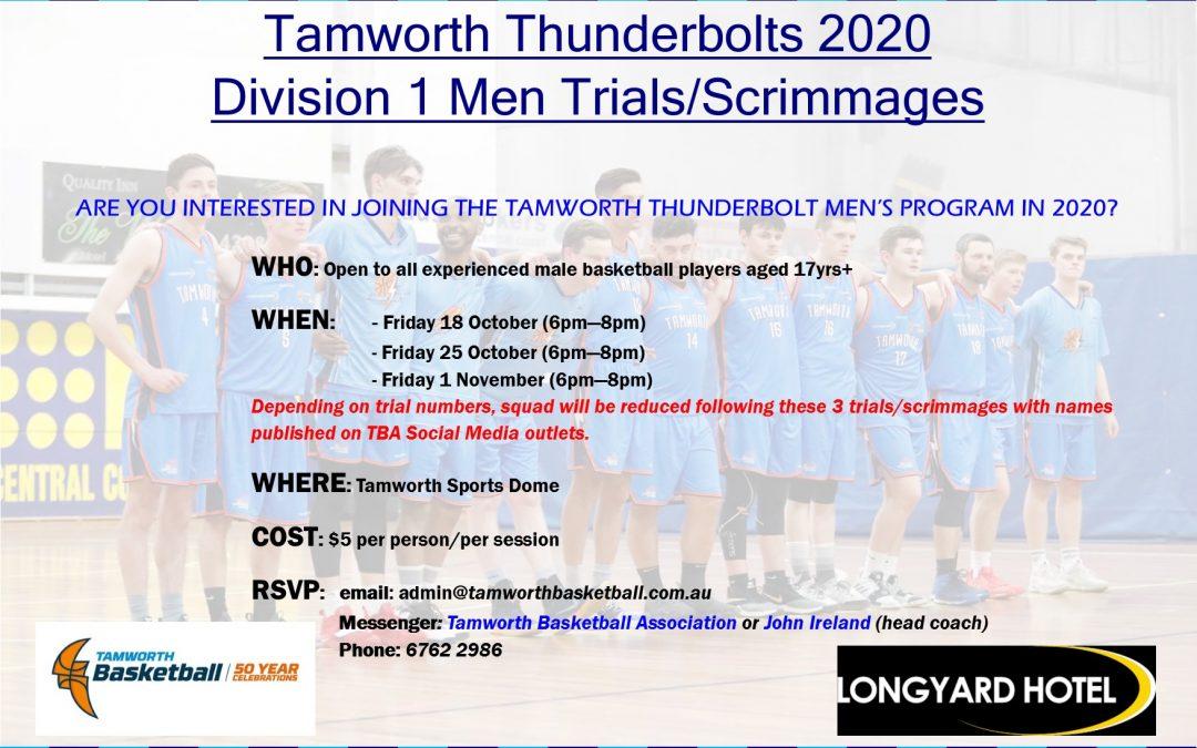 Thunderbolt Men & Women's 2020 Trials
