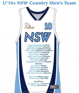 U16's NSW Country Mens Team